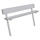 Jaypro 7-1/2' Permanent Players Bench w/Back Rest