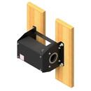 Jaypro TW-700MKT1 Manual Winch w/ Wall Mounting Kit
