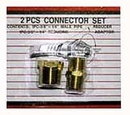 2 Pcs Brass Connector Set