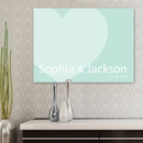JDS CA0048 Signature Heart Personalized Canvas