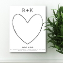 JDS CA0090 Our Story Guestbook Keepsake Canvas
