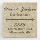 JDS CA0095 Our First Home Canvas Sign