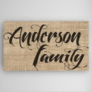 JDS CA0096 Family Name Canvas Sign