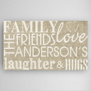 JDS CA0097 Family & Friends Canvas Sign