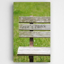 JDS CA0112 Personalized Park Bench Romance Canvas