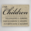 JDS CA0134 Our Children Canvas Sign