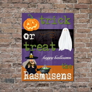 JDS CA0137 Personalized Halloween Canvas Sign