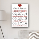 JDS CA0152 Our Love Story Canvas Print
