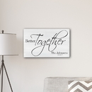 JDS CA0177 Personalized Better Together Modern Farmhouse 14 x 24 Canvas Sign