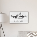 JDS CA0178 Welcome To our Home Modern Farmhouse 14 x 24 Canvas
