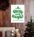 JDS CA0183 Christmas Canvas - Merry & Bright