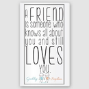 JDS CA036 Personalized Friends Canvas Sign