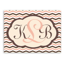 JDS CA038 Personalized Baby Chevron Canvas Sign