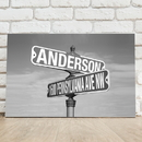 JDS CA763 Personalized Black and White Street Sign Canvas