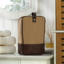 JDS Personalized Canvas and Leather Travel Kit