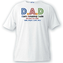 JDS GC1052 Personalized Dad T Shirt - Darn Amazing Dad