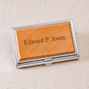JDS GC1125 Wood Business Card Case