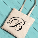 JDS GC1258 Personalized Initial Tote