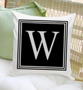 JDS GC1260 Personalized Initial Throw Pillow