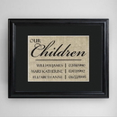 JDS GC1285 Our Children Framed Print