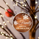 JDS GC1318 Our Family Ceramic Ornament