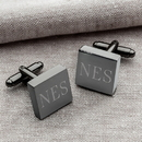 JDS GC1332 Gunmetal Square Cufflinks