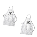 JDS GC1378 Personalized Couples White Apron Set