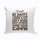 JDS GC1385 Rustic Family Rules Throw Pillow