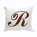 JDS GC1386 Personalized Calligraphy Monogram Throw Pillow
