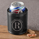 JDS GC1401 Monogrammed Black Metal Can Cooler