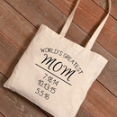 JDS GC1460 Personalized World's Greatest Mom Tote