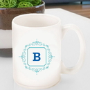 JDS GC1469 Initial Motif Coffee Mugs