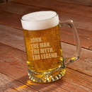 JDS GC1531 The Man. The Myth. The Legend. 25 oz. Beer Mug