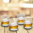 JDS GC1570 Lowball Whiskey Glasses - Set of 4