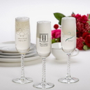 JDS Printed Champagne Flute Wedding Favors