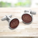 JDS GC1914 Personalized Wooden Walnut Cufflinks for Men