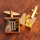 JDS Personalized Addison High Polish Brass Cufflinks