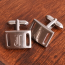 JDS Personalized Marlon Brushed Silver Cufflinks