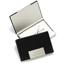 JDS Black Leather Business Card Case