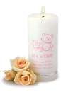 JDS Personalized It's A Girl Candle