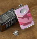 JDS GC639 Personalized Pink Camouflage Flask
