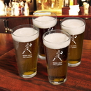JDS Personalized Set of 4 Sports Icon Pint Glasses