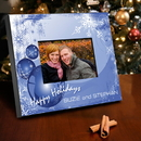 JDS Personalized Blue Christmas Picture Frame