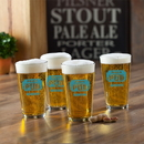 JDS GC783 Personalized Pub Glass Set - Wholesale Glassware - Gifts for Him - Groomsmen Gifts