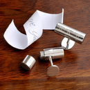 JDS Personalized Secret Agent Cufflinks