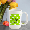JDS Personalized Polka Dots Coffee Mug