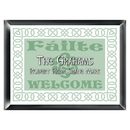 JDS Personalized Irish Linen Family Sign