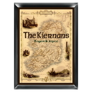 JDS Personalized Map of Ireland Family Sign