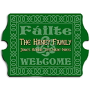 JDS Vintage Personalized Celtic Green Family Sign
