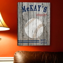 JDS Personalized Baseball Canvas Print